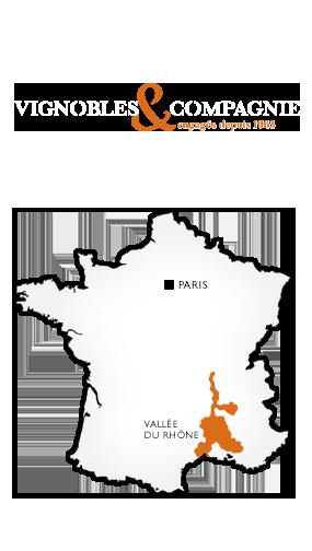 Carte France Vallée du Rhône